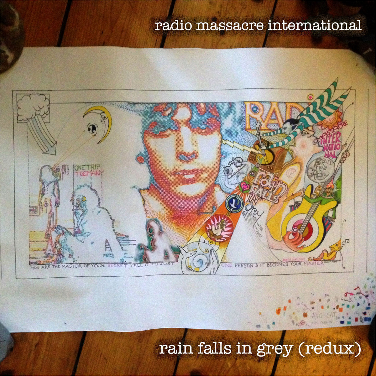 rain falls in grey (redux)